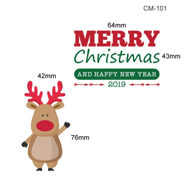 สติกเกอร์ Christmas 2019 CM-101