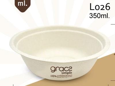 ชามอาหาร 350 มล. gracz simple L026