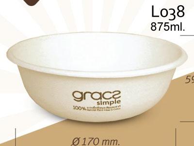ชามอาหาร 875 มล. gracz simple L038 170x59.6 mm.